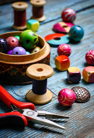 hobbies: Set of various beads and costume jewellery for hobbies crafts