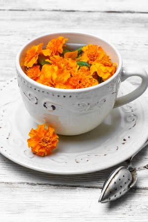 curative: curative tinctures of summer treatment of marigold flowers