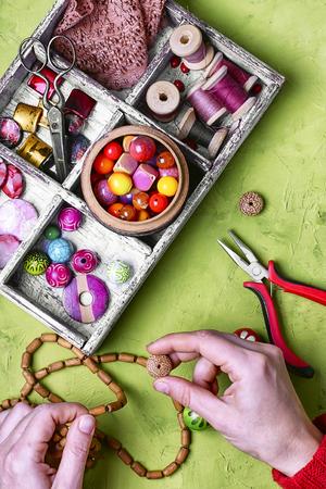 knack: craft women jewelry Stock Photo