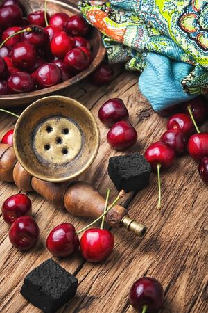 Arabic hookah with tobacco shisha cherry flavor