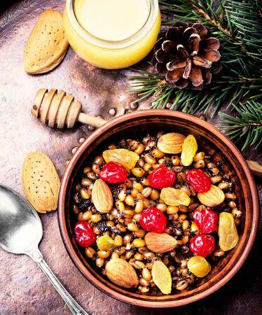 Kutia-memorial, ritual, Christmas dish of the Slavs Stock Photo