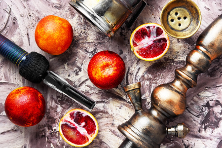 Turkish hookah tobacco with the taste of Sicilian orange Stock Photo