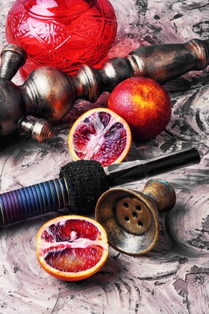 Stylish Turkish hookah tobacco with the taste of Sicilian orange