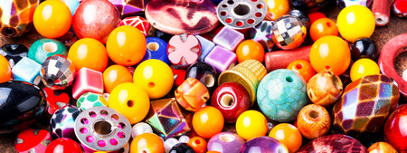 Beads, colorful beads and tools for needlework.Fashion beads