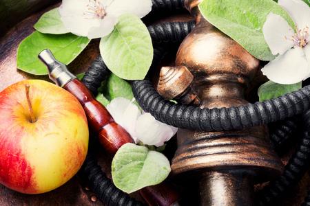 East hookah with the aroma apple for relax.Apple shisha.Shisha hookah