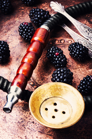 Oriental hookah with the aroma blackberry for relax.Blackberry shisha