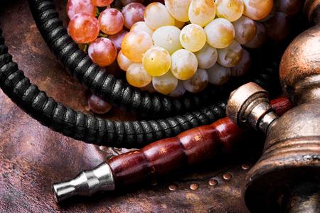 Turkish shisha hookah with aroma grapes for relax.Grapes shisha