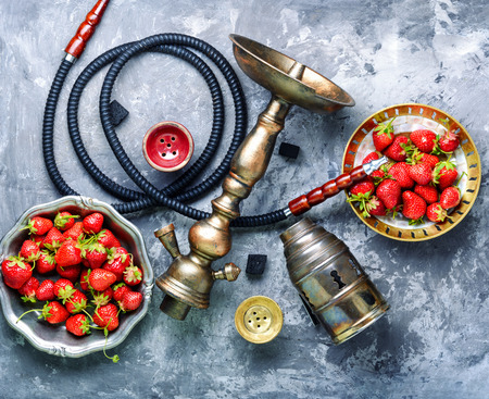 East hookah with fruit aroma for relax. Stock Photo