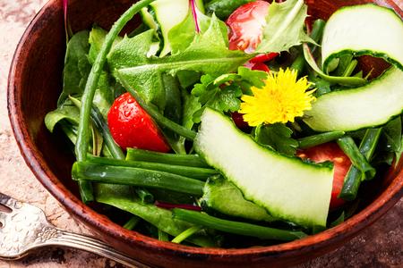 Fresh salad with mixed greens