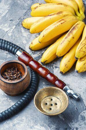 Oriental tobacco shisha with banana aroma.Kalian with banana