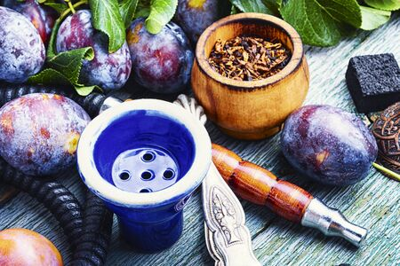 Turkish tobacco hookah with plum aroma.Kalian with plum