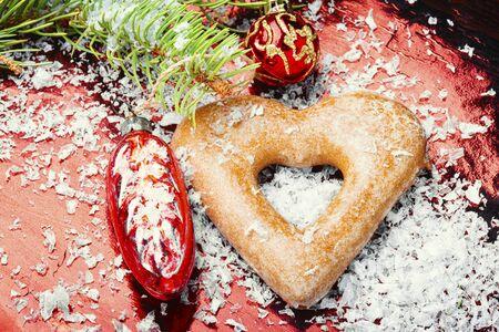 Hausgemachte Weihnachtslebkuchen oder Neujahrskekse