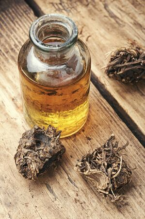 Medicinal tincture from the roots and rhizomes of valerian.Alternative medicine