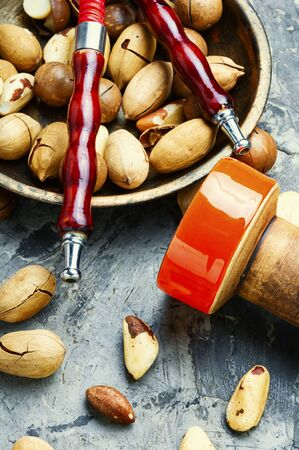 Tobacco smoking hookah with the aroma of nuts. Stock fotó