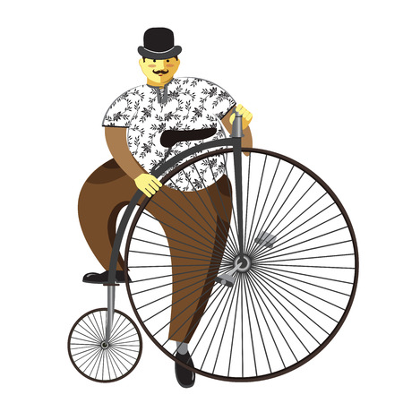 19th century style: Retro bicycle Illustration
