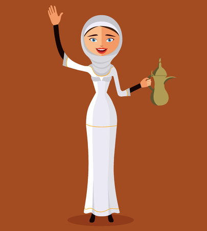 traditional clothes: Arab woman in traditional clothes.