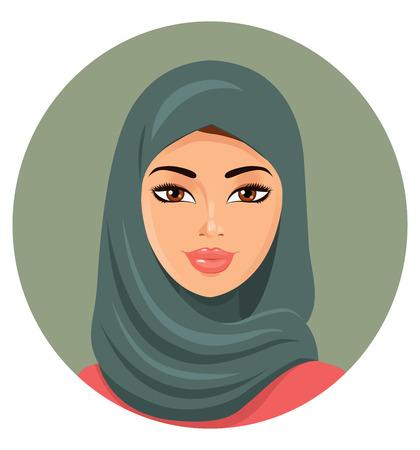 etnia: Retrato de una mujer joven musulmán en hijab.