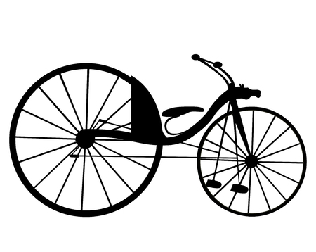 bicicleta vector: moto de época antigua. Vector.