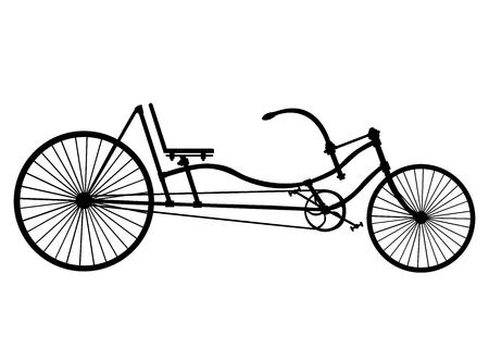 bygone: Vintage bike. Vector.