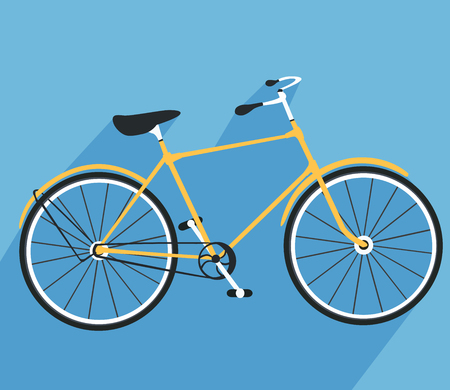 solid color: Bicycle icon. Detailed Bicycle icon solid and flat color design.
