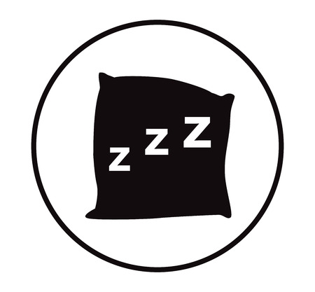 cushioned: Pillow icon vector, black pillow on white background ,eps 10