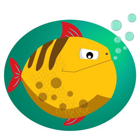 voracious: Piranha. Fish flat style vector illustration. Tropical fish, sea fish. Sea color flat design fish. Illustration