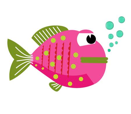 funny fish: Vector funny fish. Illustration