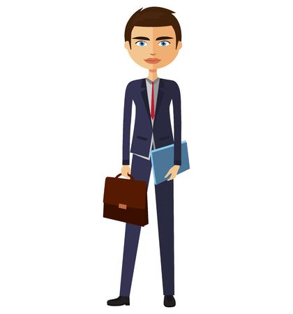 doubtful: Business man cartoon character. Vector.
