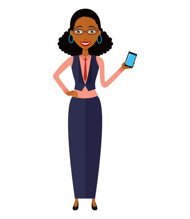 woman cellphone: African American woman with mobile phone.