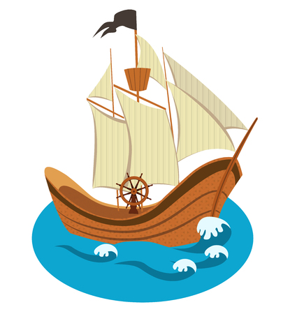 pez vela: Vector de la nave de vela