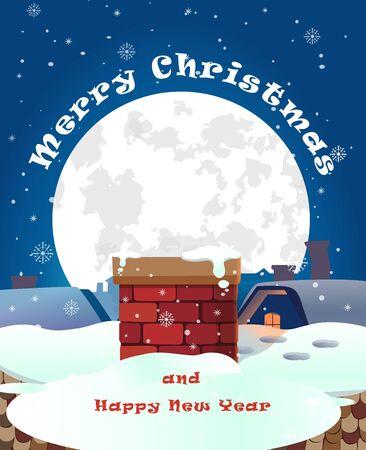 Merry Christmas, banner design background set, vector illustration