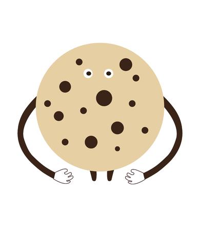 artoon: Happy ?artoon ?ookie on a white background vector illustration Illustration