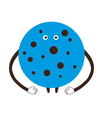 christmas cookie: Funny ?artoon blue ?ookie on a white background vector illustration