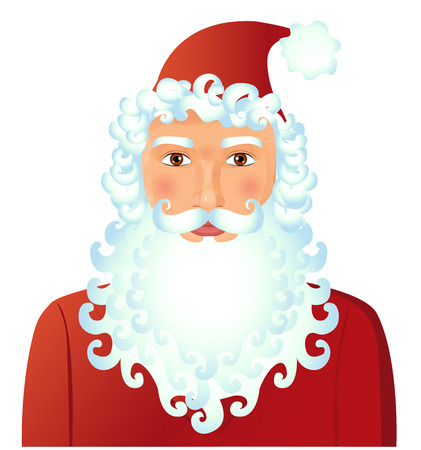 Santa Claus isolated on white background vector Illustration. Christmas. New year Illustration