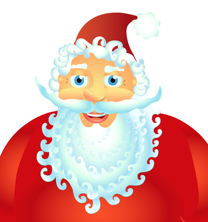 Happy Santa Claus isolated on white background vector Illustration christmas new year