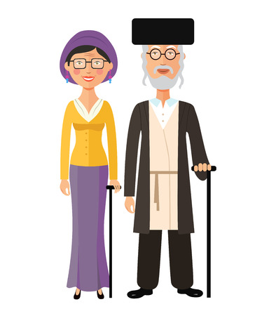 Jewish old people standing together jew grandmother and grandfather
