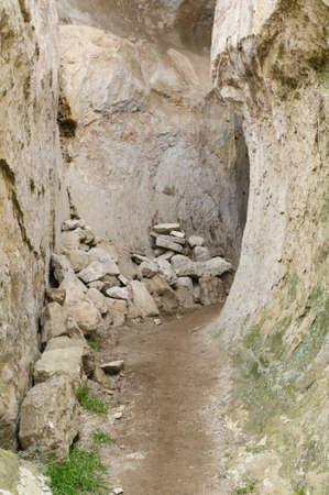 Narrow path in the rocks