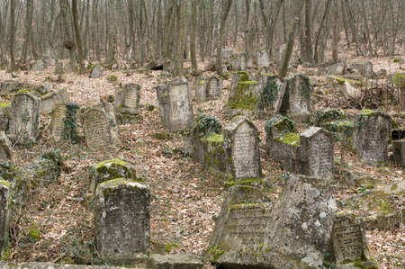 Ancient cemetery of dying people Karaites