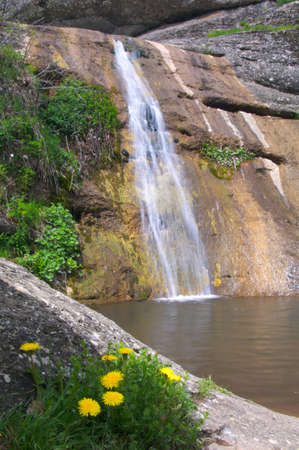Small mountain falls. Stock Photo