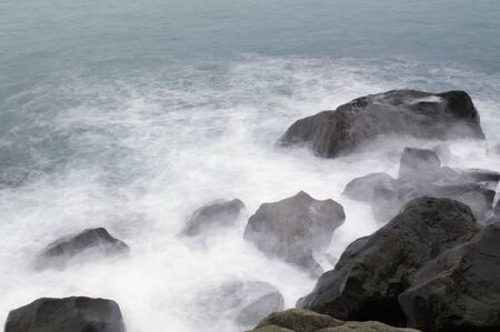 Storm  Waves and sea foam