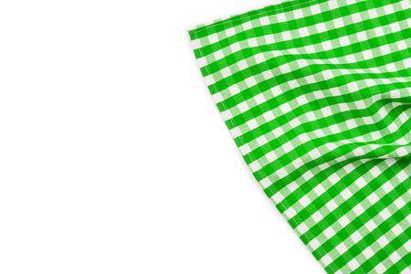 Green napkin isolated on white background. Copy space. Reklamní fotografie