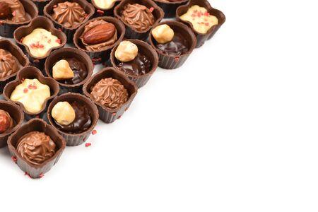 Mix of tasty chocolate candy collection. Reklamní fotografie