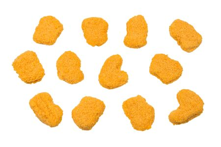 Nuggets isolated on a white background.