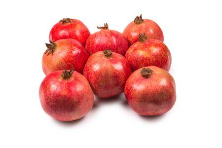Sweet pomegranate isolated on white background.
