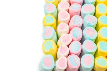 Colorful tasty marshmallow background. Top view.  版權商用圖片