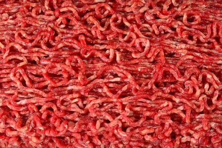 Raw chopped meat, top view. Imagens
