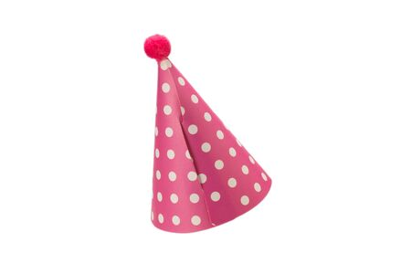 Colorful birthday cap isolated on white background Фото со стока