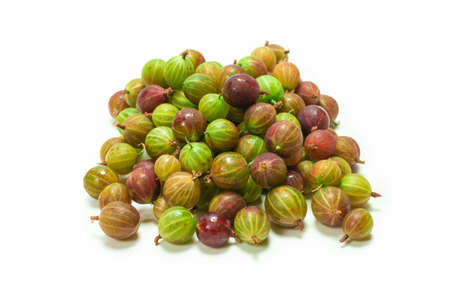 Gooseberry isolated on white background. Top view.