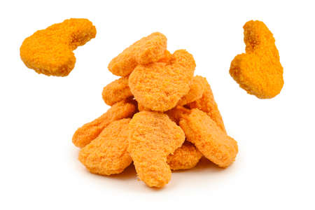 Nuggets isolated on a white background. Reklamní fotografie