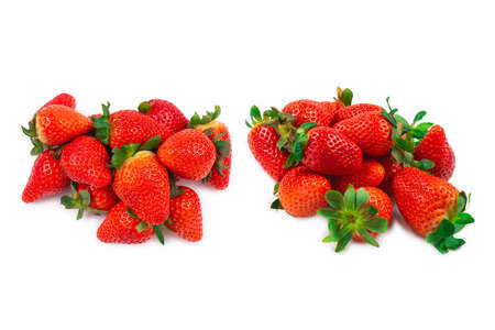 Strawberry. Fresh berries macro. Isolated on white.